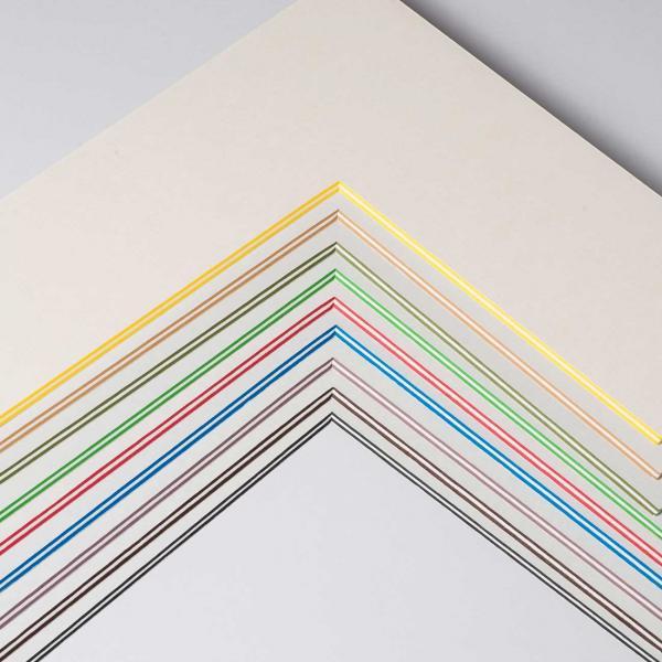 2,2 mm ColorCoreStripe Passepartout mit individuellem Ausschnitt