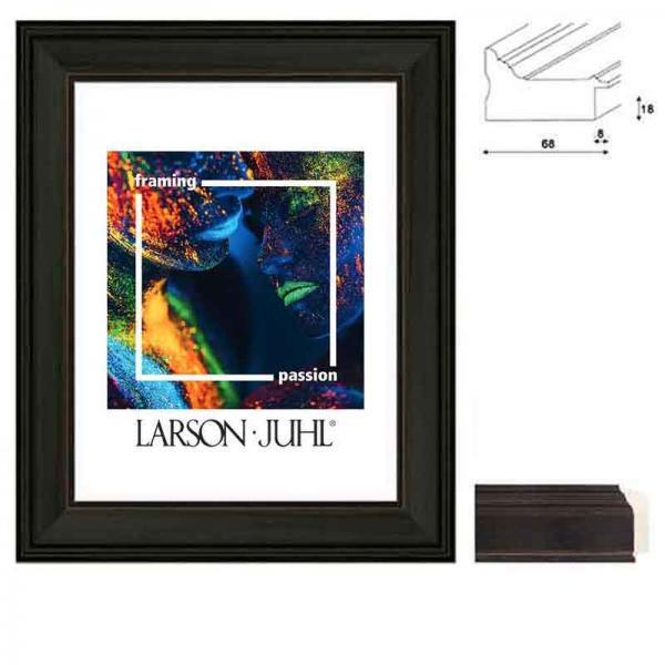 Barockrahmen MAREIS 68 10x15 cm | French Ebony | Normalglas