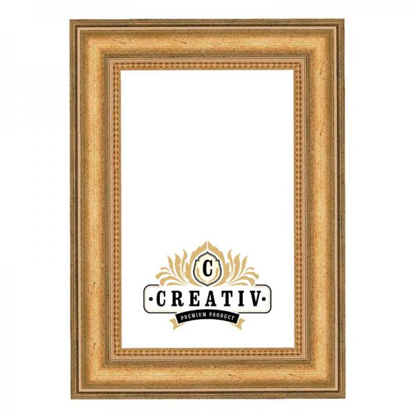 Barock-Bilderrahmen Crotone nach Maß altgold | Kunstglas