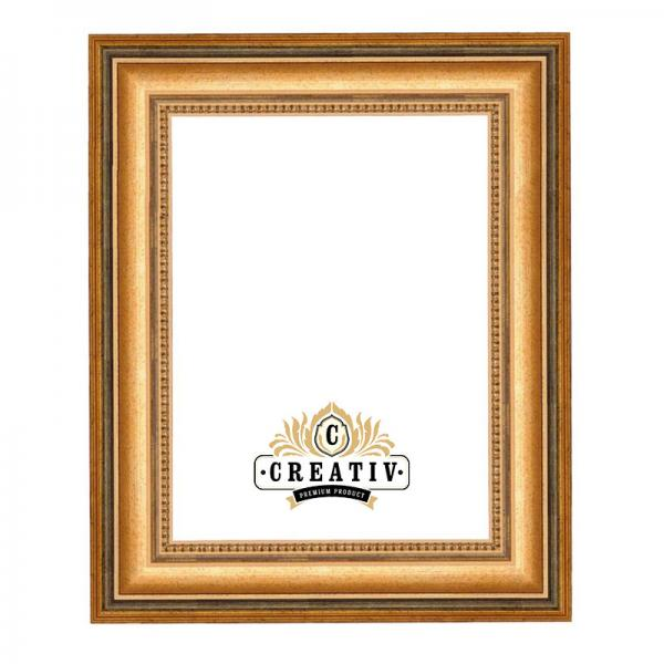 Barock-Bilderrahmen Aprilia 24x30 | altgold | Normalglas