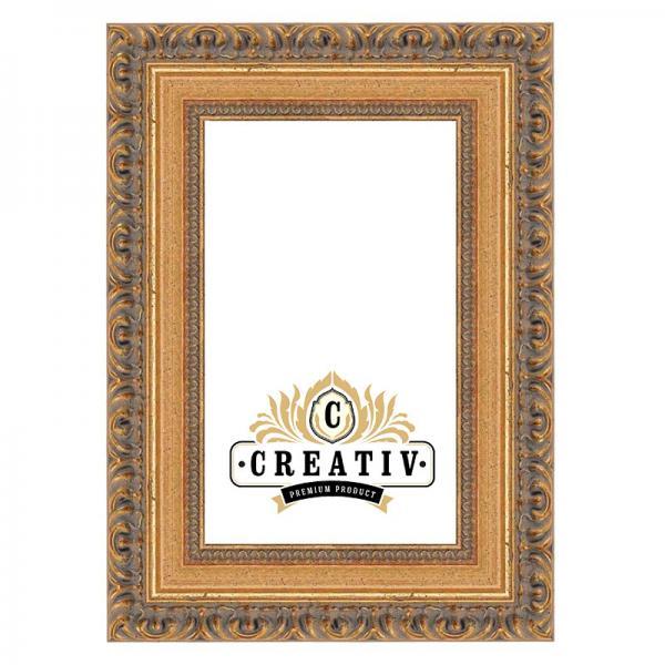 Barock-Bilderrahmen Cremona 20x20 | gold | Normalglas