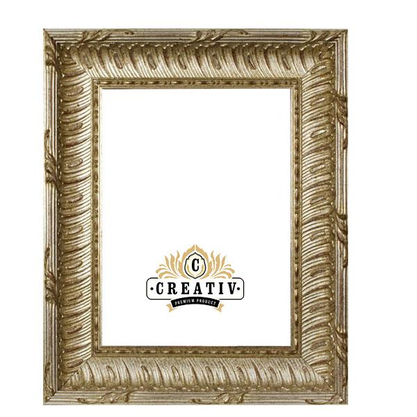 Barockrahmen Grosso 20x20 | silber | Normalglas