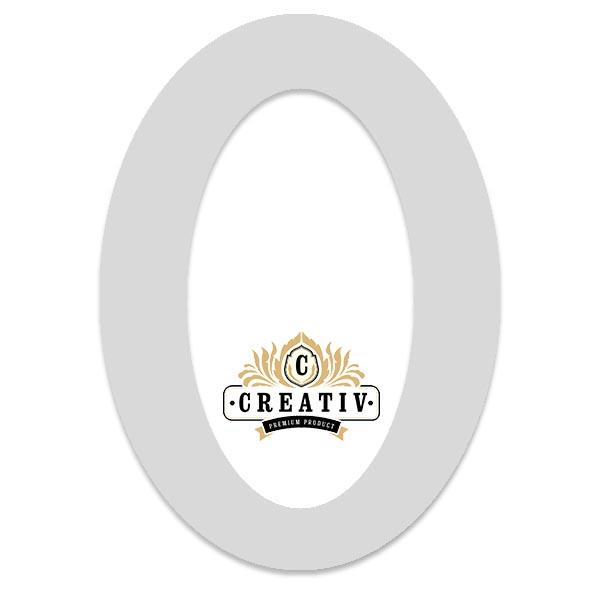 ovales Passepartout mit individuellem Ausschnitt 10x15 cm | hellgrau