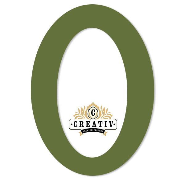 ovales Passepartout mit individuellem Ausschnitt 10x15 cm | olivgrün
