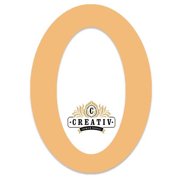 ovales Passepartout mit individuellem Ausschnitt 10x15 cm | pfirsich