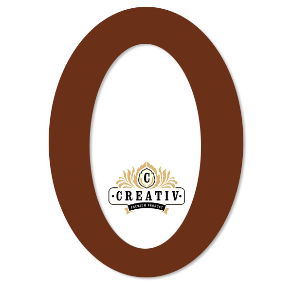 ovales Passepartout mit individuellem Ausschnitt 10x15 cm | rehbraun
