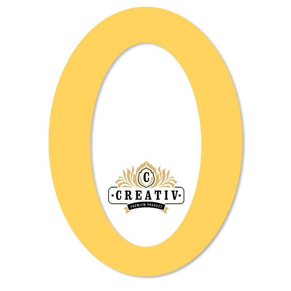 ovales Passepartout mit individuellem Ausschnitt 10x15 cm | zitronengelb