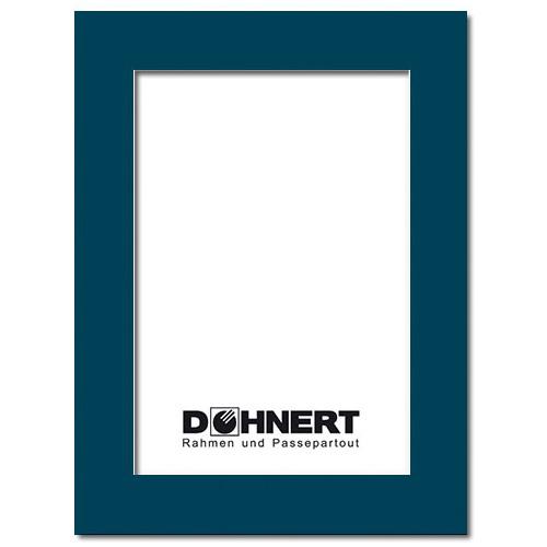 Passepartout mit eigenem Ausschnitt 13x18 cm | Marineblau