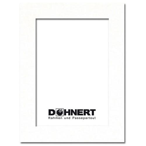 Passepartout mit eigenem Ausschnitt Außen: 13x18 | Meißenweiß