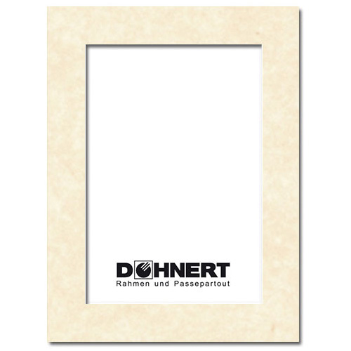 Passepartout mit eigenem Ausschnitt Außen: 13x18 | Pergament
