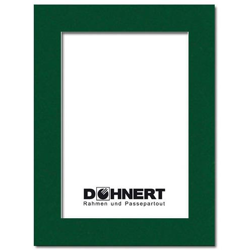 Passepartout mit eigenem Ausschnitt Außen: 13x18 | Piniengrün