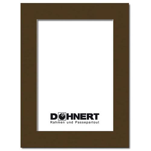 Passepartout mit eigenem Ausschnitt Außen: 13x18 | Schokoladenbraun
