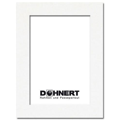Fertig Passepartout 30x40 cm (20x30 cm) | Mineralweiß