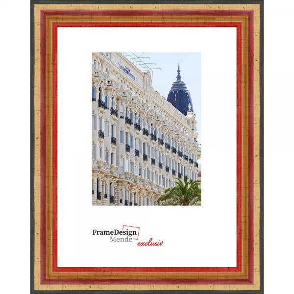Antik-Bilderrahmen Listany 20x30 cm | Gold gestreift | Normalglas