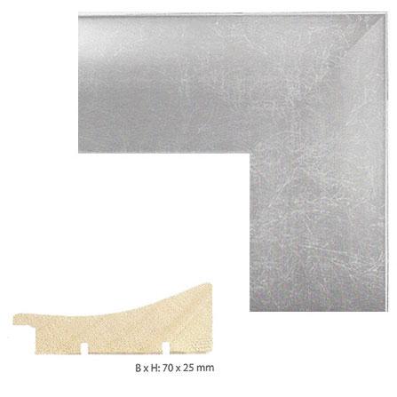 Antik-Bilderrahmen Elobo 20x30 cm | Silber/Grau | Normalglas