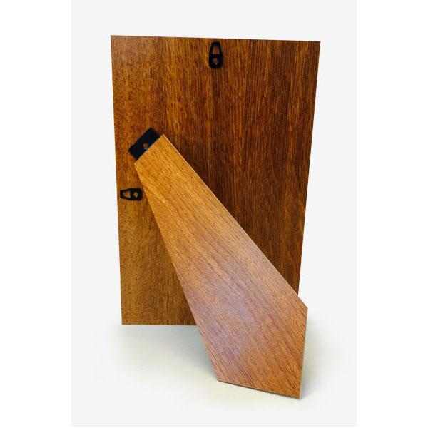 MDF Rückwand mit Aufsteller, arretierbar 20x25 cm | Holzdekor