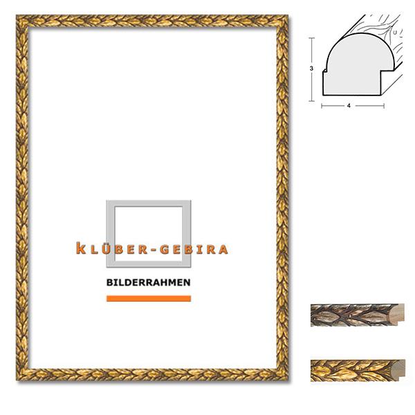 Barockrahmen Cadiz 20x30 | Jugendstil gold | Normalglas