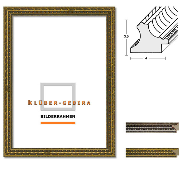Barockrahmen Bilbao 30x40 | gold | Normalglas