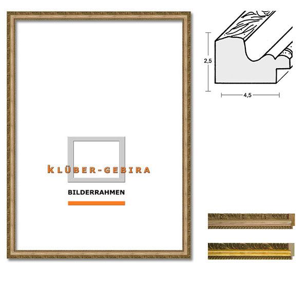 Barockrahmen Marbella 20x30 | Stilleiste gold | Normalglas