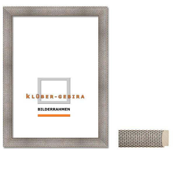 Barockrahmen Manacor 30x40 | Silber, Kettenmuster | Normalglas