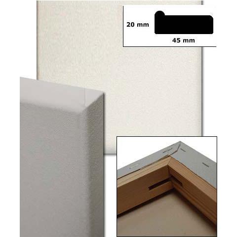 Bespannte Keilrahmen, Profil 4,5x1,9 cm Sonderzuschnitt ohne Querstege