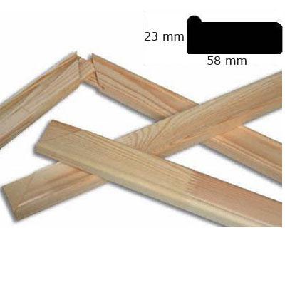 Keilrahmenleisten 5,8x2,3 cm Sonderzuschnitt ohne Querstege