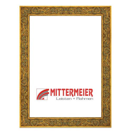 Barock-Bilderrahmen Bellinzona 20x30 cm | altgold verziert | Normalglas