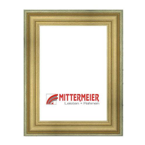 Barock-Bilderrahmen Liestal 20x30 cm | antikgold, gekratzt | Normalglas