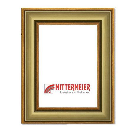 Barock-Bilderrahmen Rüti 20x30 cm | altgold, patiniert | Normalglas
