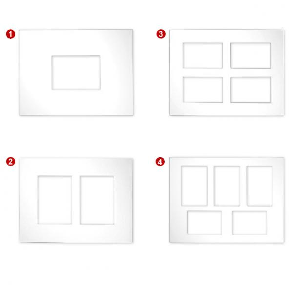 Galerie-Passepartouts 2,5 mm, Außenformat 30x40 1) 30x40 cm (1x 13x18) | Hellweiß